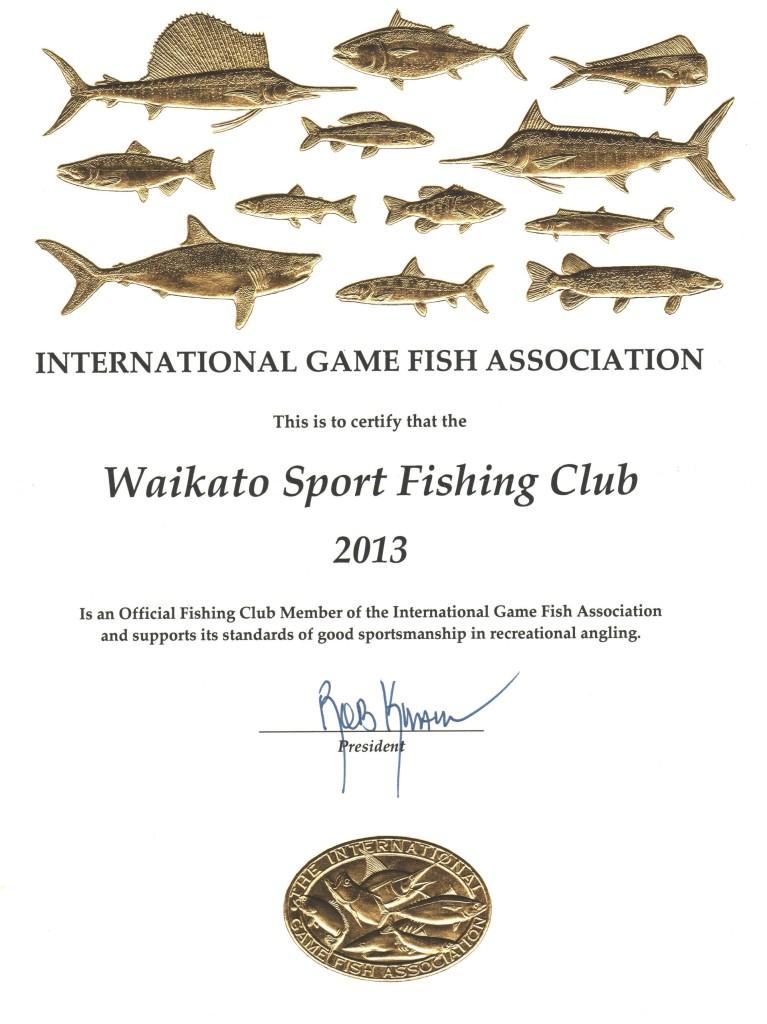 IGFA 2013 Affiliation Certificate.