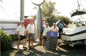 John Metcalf's 121.6kg Stripped Marlin At Raglan One Base 2005