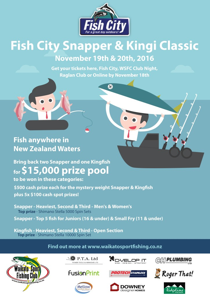 Fish City Snapper & Kingi Class Poster