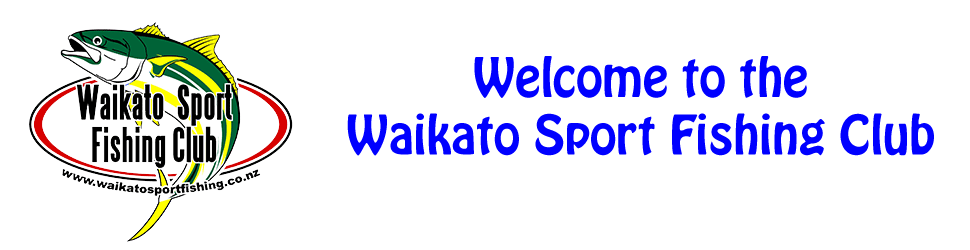 Welcome to Waikato Sport Fishing Club Banner