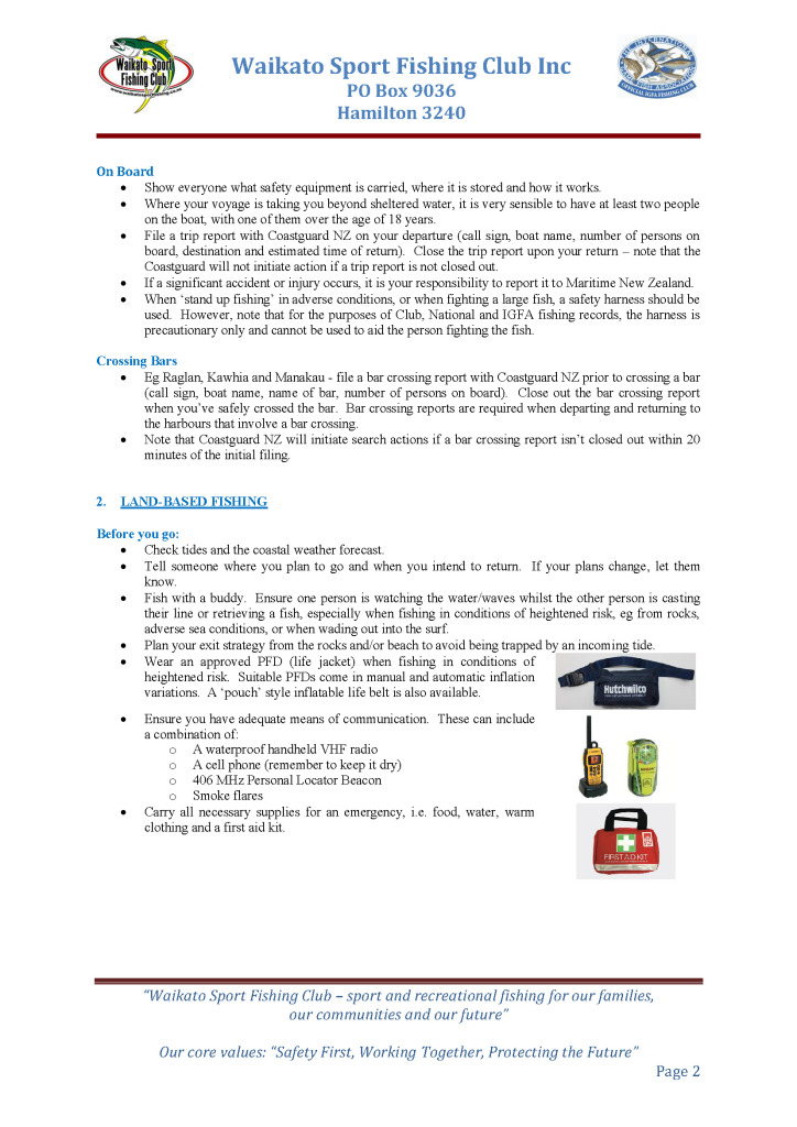 Fishing Safely Guidelines Page 2