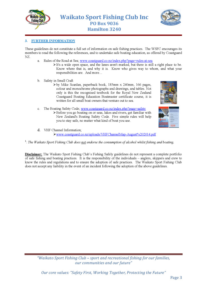 Fishing Safely Guidelines Page 3