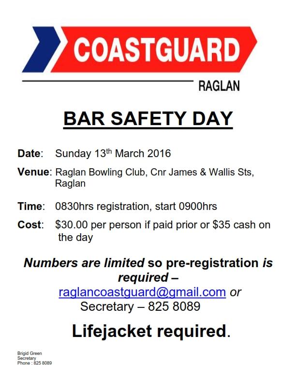 Raglan Bar Day March 16