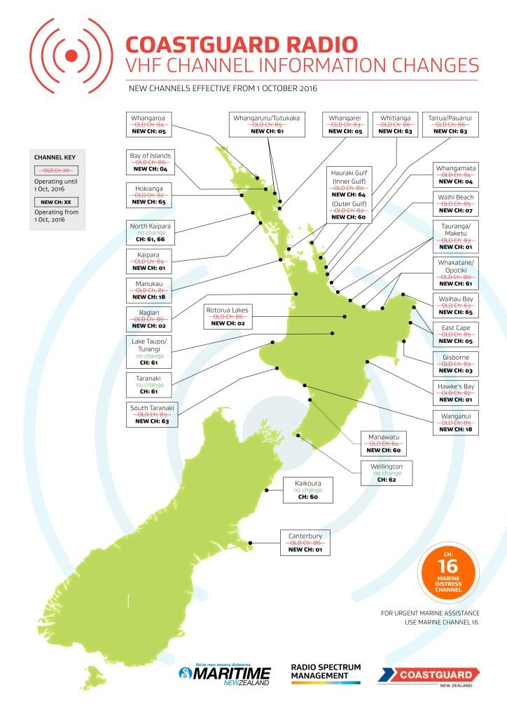 New NZ VHF Channels