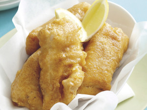 Frozen fish makeovers - spiced beer-battered fish